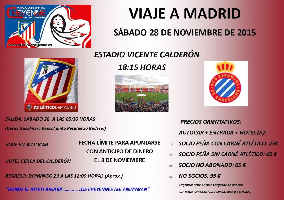 Viaje al partido Atlético - Espanyol